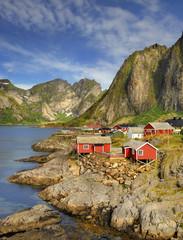Wall Mural - Norwegia ,  Sakrisoy, krajobraz wiejski