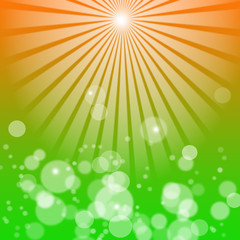 Abstract bokeh and rays background