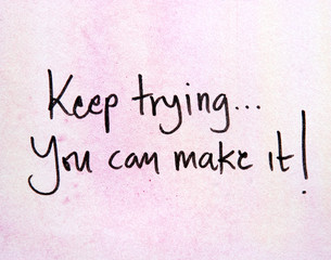 motivational message keep trying
