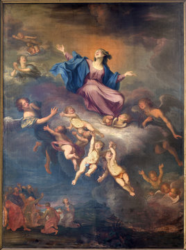 Bruges - The Assumption of Virgin Mary in st. Jacobs church