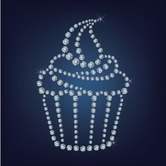 Cupcake made up a lot of diamonds