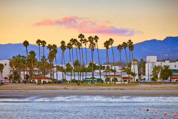 Santa Barbara from the pier Wall mural