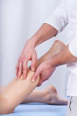 Massage of calf