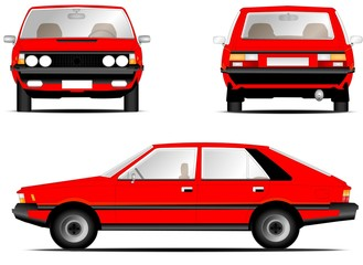 Polonez fso car red