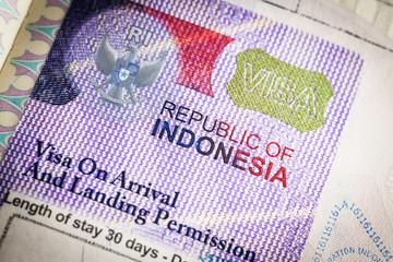 Fotobehang Indonesië Indonesia Visa