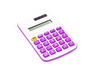 purple calculator on White Background