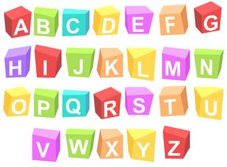 Cube alphabets