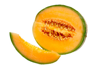 Slice of muskmelon