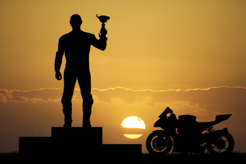 Fototapete - rider on the podium