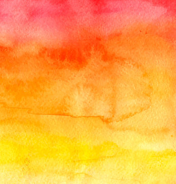 Red and yellow watercolor background