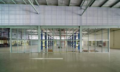 Interior of a new repair garage, Elevation