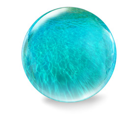 glass ball with water