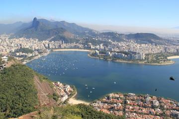 Aussicht vom Zuckerhut auf Botafogo