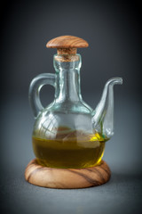 Decanter of olive oil