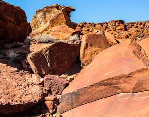 Rock Paintings, Twyfelfontein, Namibia