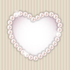 Pearl Heart Vector Illustration Background