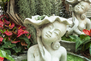 Sculpture in the garden of a beautiful