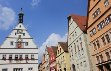 Rathausplatz in Rothenburg