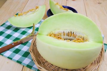 cantaloupe melon green