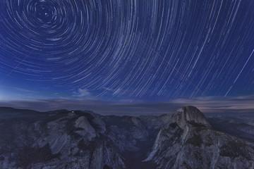 Yosemite National Park at Night Wall mural