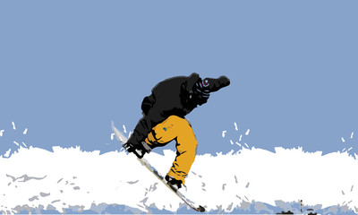 Freestyle Skiing. Snowboarding