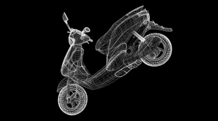 scooter on a background