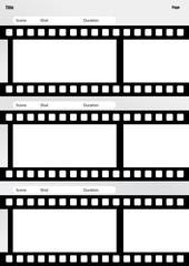 storyboard film template vertical