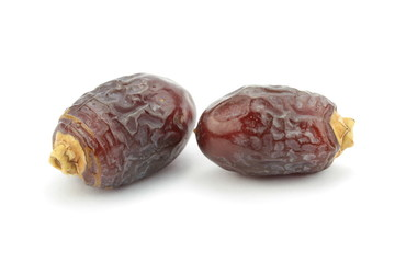 Date fruits, isolated on white background