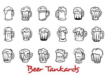 Beer tankards set