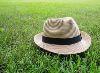 Hat in garden