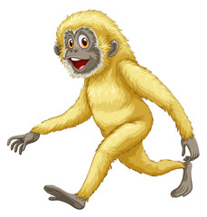 A yellow gorilla
