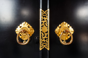door in asakusa temple at Tokyo ,Japan