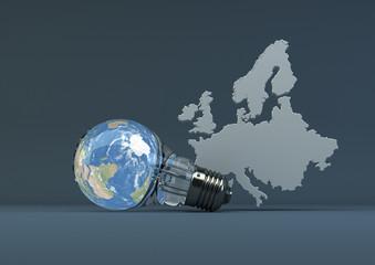 Green Energy in Europe - dark blue
