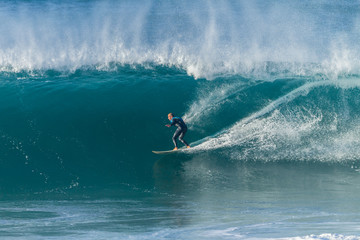 Surfing Surfer Riding Large Wave