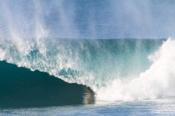 Large Hollow Crashing Blue  Wave