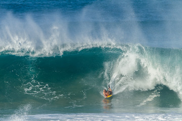 Surfing Rider Large Wave