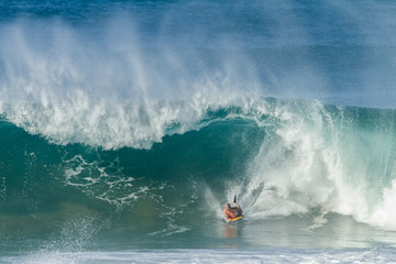 Surfing Body Boarding Large Wave