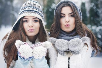 Sweet kisses from lovely girls