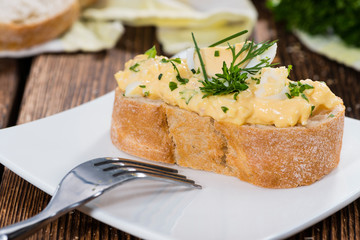 Piece of Bread with Egg Salad