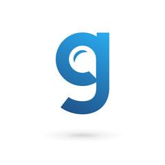 Letter G speech bubble logo icon design template elements.