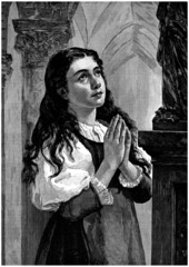 Young Woman Praying - Religious Christian Scene