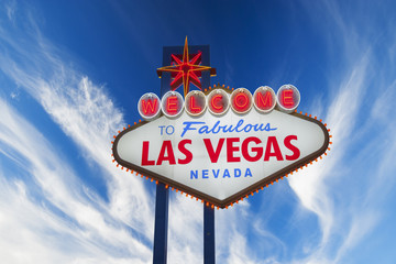 Aluminium Prints Las Vegas Welcome to Las Vegas neon sign