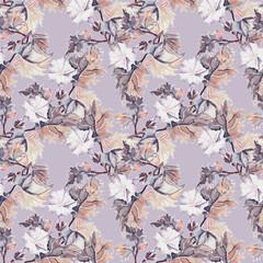 Datura seamless pattern