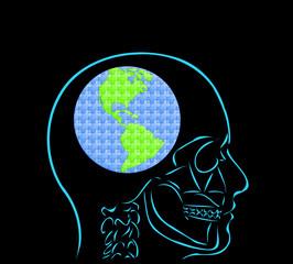 myśl i kula ziemska puzzle