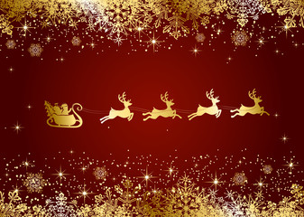 Santa on Christmas background