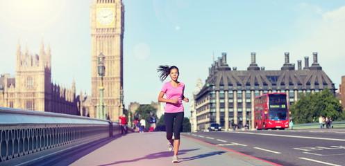 Garden Poster London London lifestyle woman running near Big Ben