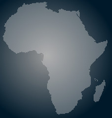 Africa pixel map, dotted