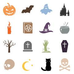 Vector Set of Halloween Icons
