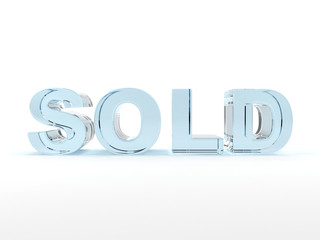 3D sold text