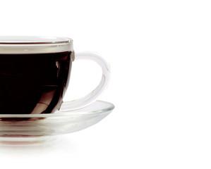 Espresso on white background